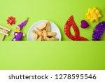jewish holiday purim background ...   Shutterstock . vector #1278595546