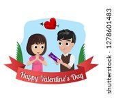 valentine card with couple... | Shutterstock .eps vector #1278601483