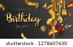 happy birthday typography... | Shutterstock .eps vector #1278607630