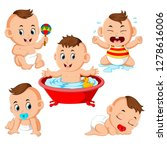 the collection of the baby boy... | Shutterstock . vector #1278616006
