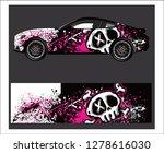 car decal vector  grunge... | Shutterstock .eps vector #1278616030