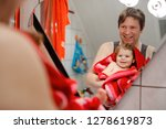 father holding cute little... | Shutterstock . vector #1278619873