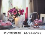 evening romantic table for two... | Shutterstock . vector #1278626419