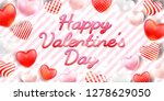 happy valentine's day with...   Shutterstock .eps vector #1278629050