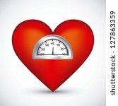 illustration of fitness icons ... | Shutterstock .eps vector #127863359