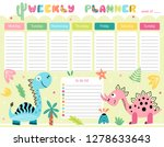 kids weekly planner and to do... | Shutterstock .eps vector #1278633643