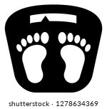 bathroom scale with feet vector ...   Shutterstock .eps vector #1278634369