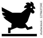 chicken crossing the road...   Shutterstock .eps vector #1278637240
