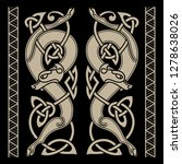 wolfs in celtic style and... | Shutterstock .eps vector #1278638026