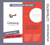 route company brochure template.... | Shutterstock .eps vector #1278648703