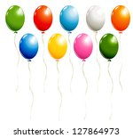 set of balloons isolated on... | Shutterstock .eps vector #127864973