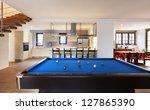 modern loft  room with billiard | Shutterstock . vector #127865390