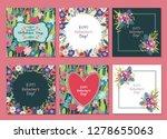 happy valentines day. set of...   Shutterstock .eps vector #1278655063