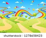 the beautiful view with the... | Shutterstock .eps vector #1278658423