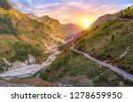 scenic mountain road with view... | Shutterstock . vector #1278659950