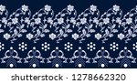seamless blue and white... | Shutterstock .eps vector #1278662320