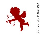 silhouette red amour cupid baby ... | Shutterstock .eps vector #1278663883