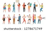 people who are doing various... | Shutterstock .eps vector #1278671749