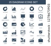 diagram icons. trendy 25... | Shutterstock .eps vector #1278673903