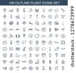 100 plant icons. trendy plant... | Shutterstock .eps vector #1278673999
