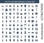 beverage icons. trendy 100... | Shutterstock .eps vector #1278674050