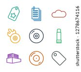 copy icons. trendy 9 copy icons.... | Shutterstock .eps vector #1278674116