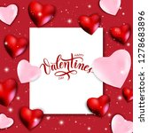 happy valentines day background ... | Shutterstock .eps vector #1278683896