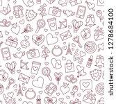 valentine's day. love. 14...   Shutterstock .eps vector #1278684100