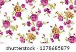 seamless cute rose flower...   Shutterstock . vector #1278685879