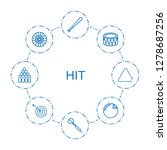 hit icons. trendy 8 hit icons.... | Shutterstock .eps vector #1278687256