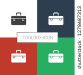 toolbox icon white background.... | Shutterstock .eps vector #1278687313