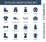16 wear icons. trendy wear... | Shutterstock .eps vector #1278688183