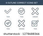 6 correct icons. trendy correct ...   Shutterstock .eps vector #1278688366