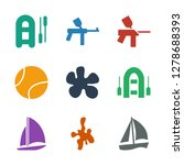 9 recreational icons. trendy... | Shutterstock .eps vector #1278688393