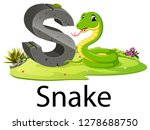 zoo animal alphabet s for snake ... | Shutterstock .eps vector #1278688750