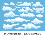 flat design of clouds of... | Shutterstock .eps vector #1278689599