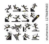 vector set of black linear man... | Shutterstock .eps vector #1278689683