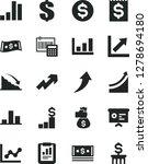 solid black vector icon set  ... | Shutterstock .eps vector #1278694180