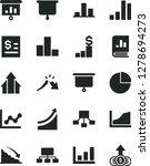 solid black vector icon set  ... | Shutterstock .eps vector #1278694273