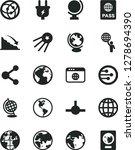 solid black vector icon set  ... | Shutterstock .eps vector #1278694390