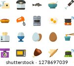 color flat icon set   poached... | Shutterstock .eps vector #1278697039