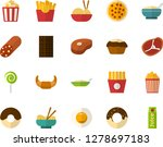 color flat icon set   sausage... | Shutterstock .eps vector #1278697183