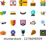color flat icon set   a glass... | Shutterstock .eps vector #1278698509