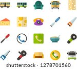color flat icon set   cheese... | Shutterstock .eps vector #1278701560
