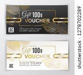 vector gift voucher template.... | Shutterstock .eps vector #1278702289