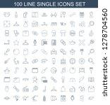 100 single icons. trendy single ... | Shutterstock .eps vector #1278704560