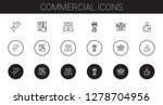 commercial icons set.... | Shutterstock .eps vector #1278704956