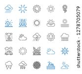 sunny icons set. collection of... | Shutterstock .eps vector #1278705079