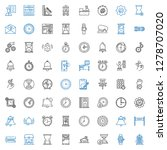 clock icons set. collection of... | Shutterstock .eps vector #1278707020