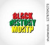 black history month vector... | Shutterstock .eps vector #1278709273